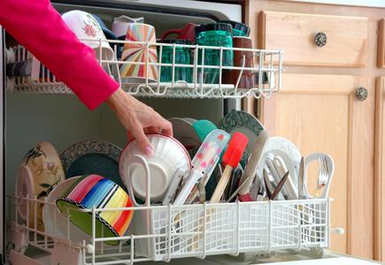 Dishwashers-other-features-Woman-loading dishes-in-dishwasher