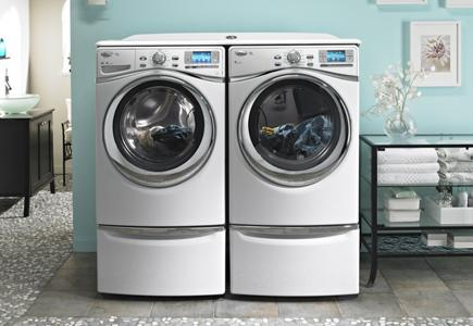 Clothes-Washer-and-Dryer-Side-By-Side