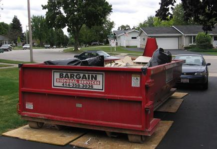 A Dumpster is a must for a kitchen remodel.