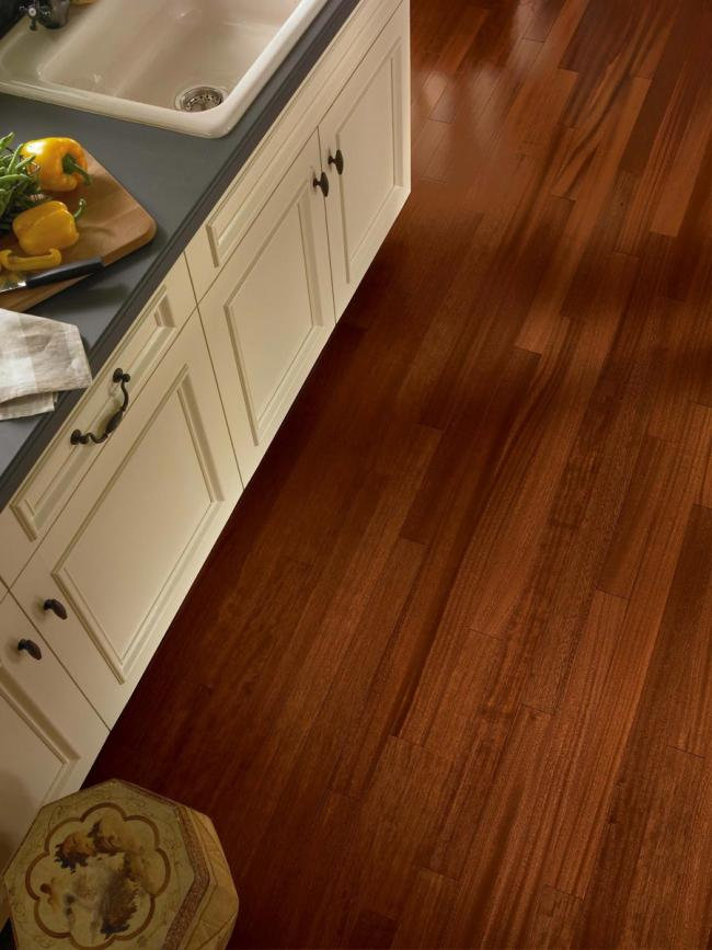 Engineered African mahogany hardwood flooring