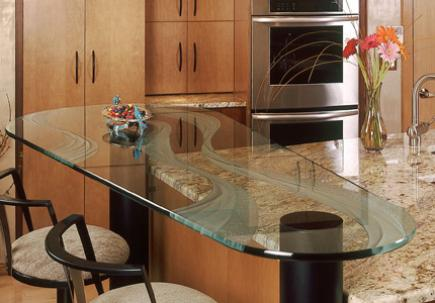 Glass-Countertop-In-Kitchen