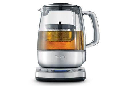 An electric kettle for brewing tea.