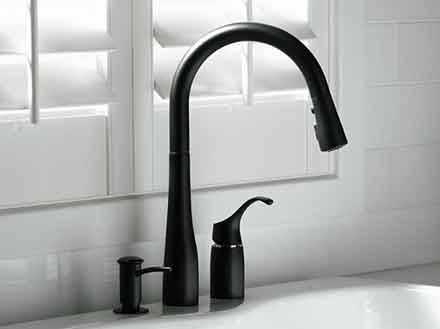 Kohler black Simplice faucet