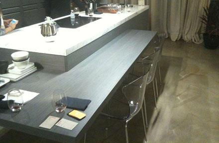 Kitchen Island Attached Dining Table