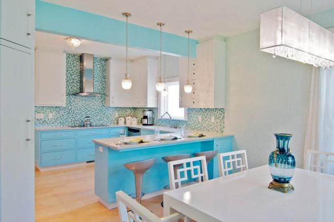 Baby Blue Art Deco Kitchen Will Waibel