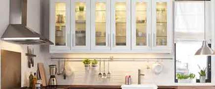 White kitchen with Ikea backsplash organizer