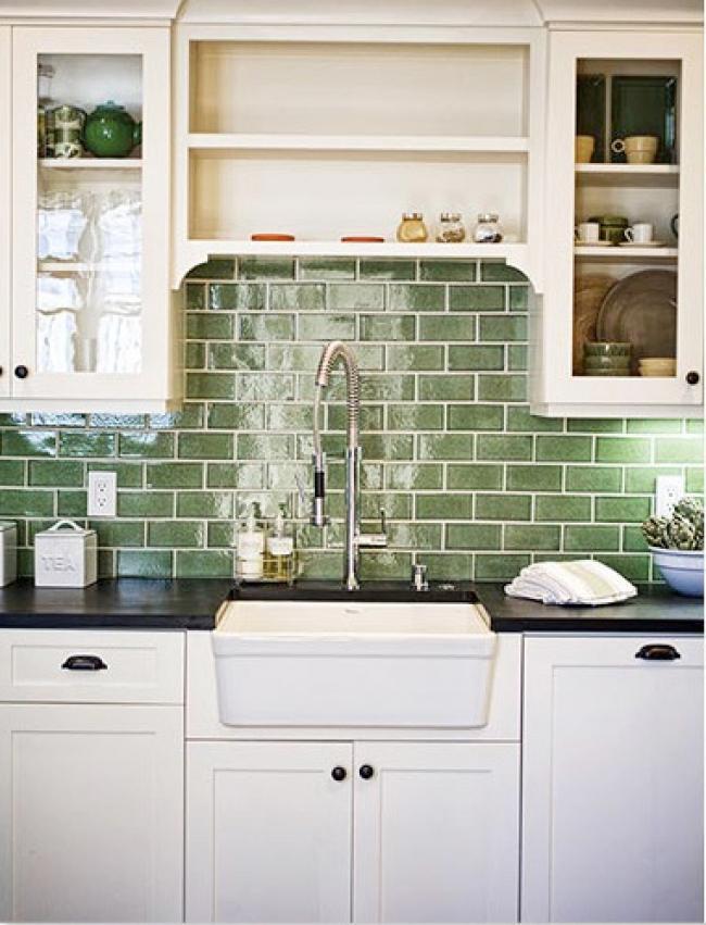 recycled tile backsplash