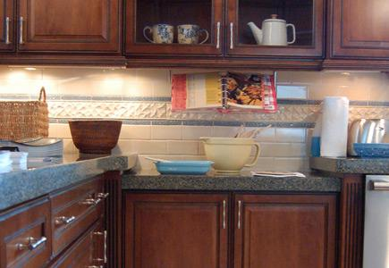 Kitchen countertops with baking equipment