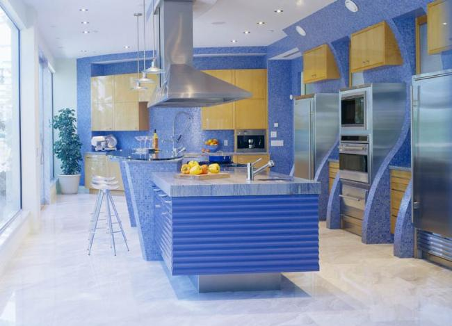 Blue Kitchen by Tim Scott