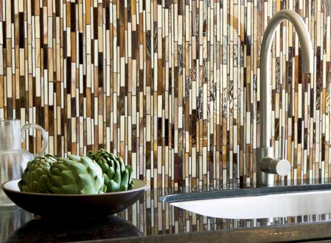 Vertical Tile Backsplash