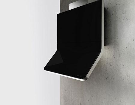 This sleek black vent hood resembles an iPad.