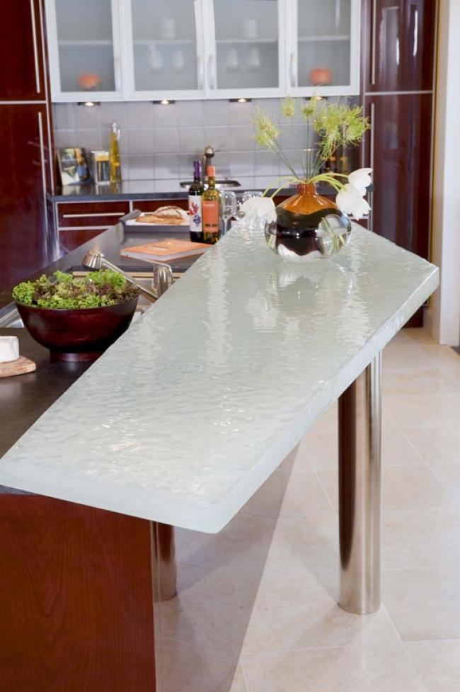 9 Foot Long Glass Countertop