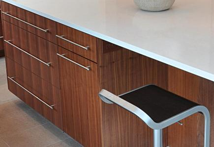 Cabinets made of exotic wood