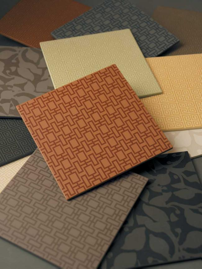 The Building Blox collection of ceramic tile from Crossville
