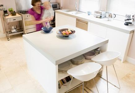 Mother-and-Baby-In-Modern-Kitchen