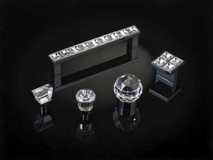 Topex cabinet hardware with Swarovski crystals