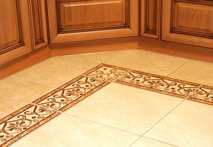 Tile Floor With Decorative Border