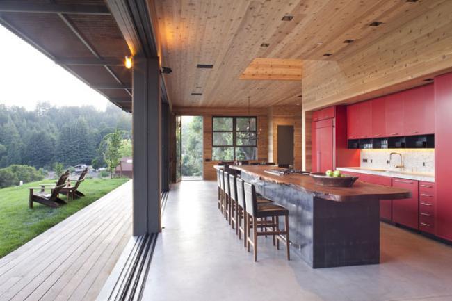 Santa Cruz Kitchen with Mountain View
