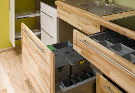 Open drawer showing cutlery tidy.