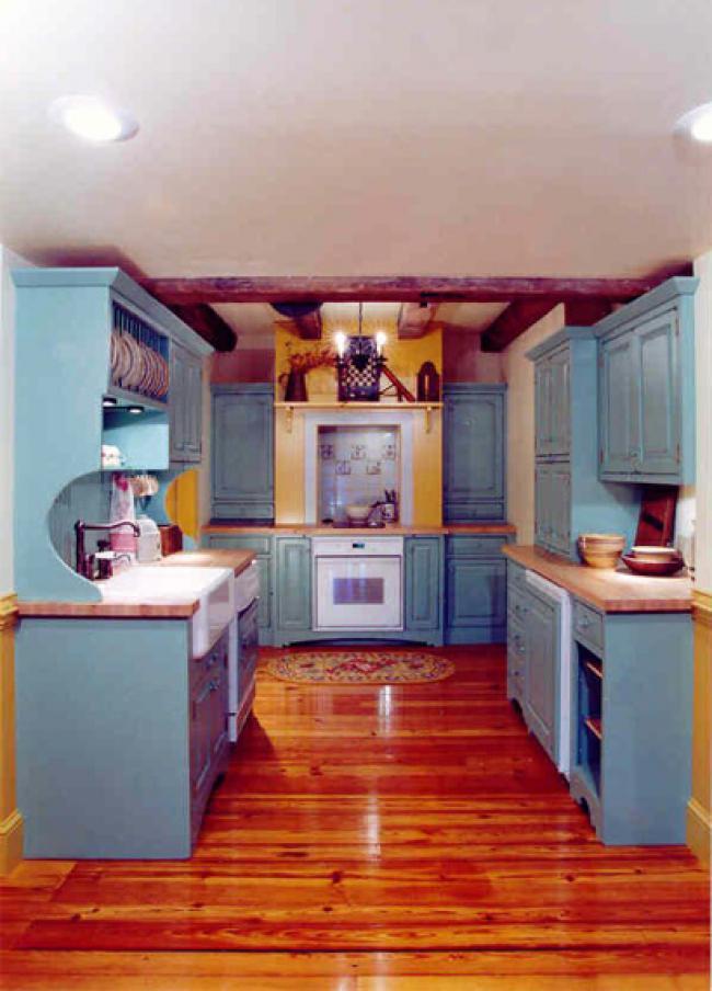 Denim-Colored Cabinets