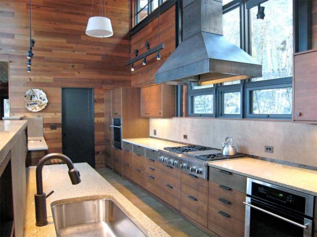 Modern Cabin Kitchen