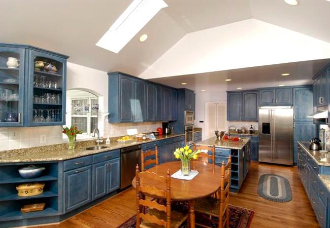 denim blue cabinet