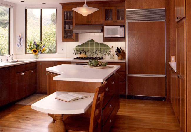 Kitchen Island with Solid Surface Countertops
