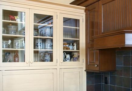 Dark and Light Wood Cabinets