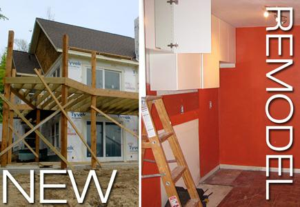 Image of new construction vs. remodeling