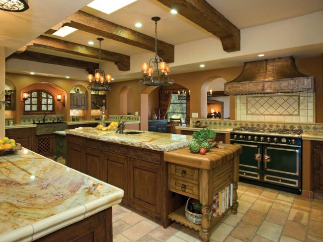 NKBA award winning hacienda large kitchen design