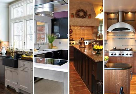A selection of various kitchen styles.