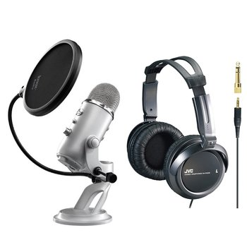Rent Blue Yeti Podcasting Mic w/ Pop-Filter