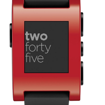 Rent Pebble red version 1