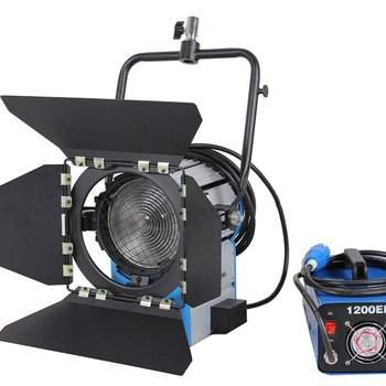 Rent 1.2k HMI Fresnel w/ 2 bulbs, ballast, case, 4 scrims