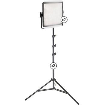 Rent Genaray 5600K dimmable 2 x 1x1 Light Panels Kit