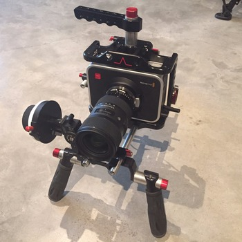 Rent Blackmagic Cinema Camera 2.5K MFT Kit (BMCC 2.5K MFT) with Shape Offset Shoulder Rig