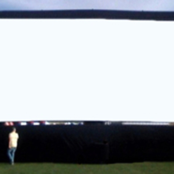 Rent 40' x 20' Inflatable Airscreen (widescreen)