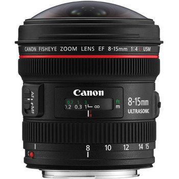 Rent Canon EF 8-15mm f/4L Fisheye USM Lens