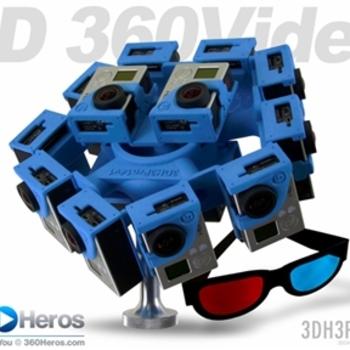Rent 360RIZE (360Heros) 14 GoPro Hero4 VR rig + 16 GoPro Cameras