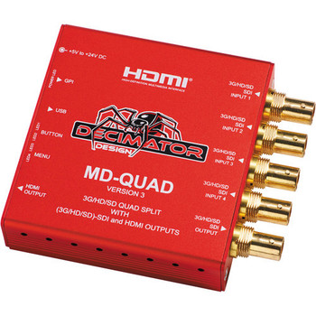 Rent Decimator Design MD-QUAD V 3 Video Quad 4:1 HDSDI splitter