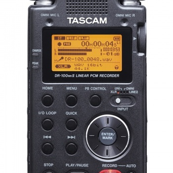 Rent stereo digital audio recorder (Tascam DR-100mkII)