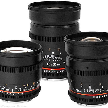 Rent Rokinon Lens Kit - Sony E Mount