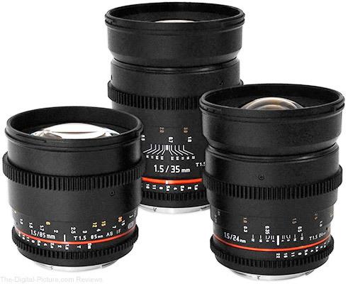 Rokinon 24 35 85mm t1.5 cine lens bundle