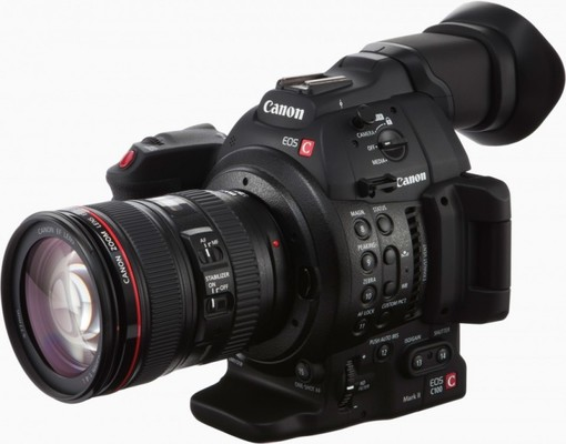 Canon c100 mark ii with lens