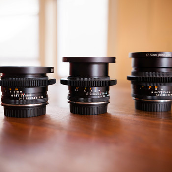 Rent Zeiss Contax Primes Set - 25 f2.8 / 50 f1.4 / 85 f1.4 DUCLOS CINEMOD