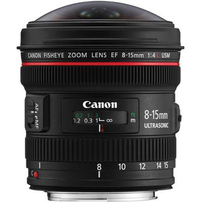 Canon 8 15 fisheye