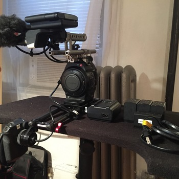 Rent Canon C300 Studio/Doc Setup + Zeiss ZF Cinemodded 6-Lens Prime Set