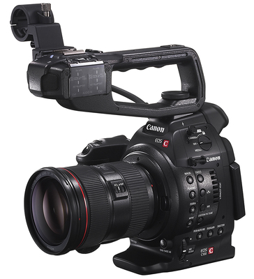 Paul joy canon c100 announced c100 vs c300 left angle handle