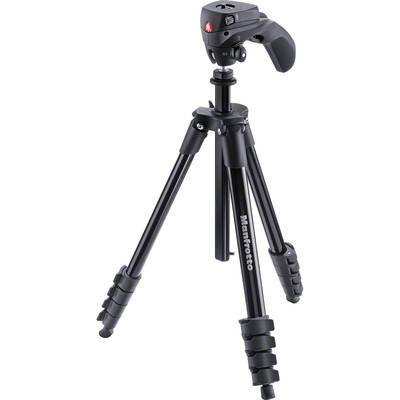 Manfrotto mkcompactacn bk compact action aluminum tripod 1059028