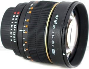 Rokinon 85mm f1.4 nikon f front medium